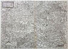 1593 Rare DE JODE Antique copper engraved map of AUSTRIA - Österreich - Wien