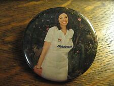 Progressive Flo Pocket Mirror - Repurposed Insurance Magazine Ad Lipstick Mirror