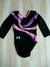 Competition Gymnastics Leotard Child 6x-7 Ua Cm Black Pink Bling long sleeve