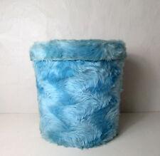Pouf de rangement Pelfran bleu clair vintage