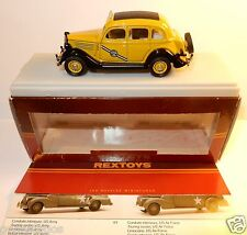 REXTOYS FORD 1935 CONDUITE INTERIEURE TAXI YELLOW CAB TOURING REF 50 IN BOX 1/4