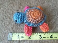 Sunset sea turtle amigurumi crochet mini plush toy yarn