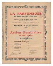 ACTION 100 FR LA PARFUMEUSE 1924