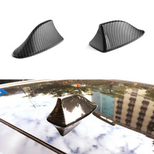 Car Shark Fin Antenna Roof Dummy Aerials Adhesive Decoration Carbon Fiber Style