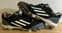 Adidas Baseball Cleats Black Silver Camo, Mens Size 10 SPG 753001, Pre-owned
