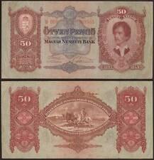 UNGHERIA 50 PENGO 1/10/1932 OTVEN PENGO MAGYAR