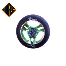 1 pair pro scooter wheels metal core green ninja 100mm 88a abec 11 bearings