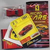 Micro Cars 2015 FERRARI GTO #05 +card+sticker+bag+bpz 1/100 Kyosho MIB