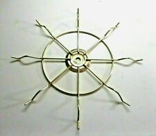 "New listing Vintage 10-3/4"" Sunburst Star 8 Spokes Wheel Shiny Brass Plated Lamp Repair Part"