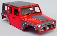Axial RC Scale Truck Body Shell 1/10 JEEP WRANGLER RUBICON Hard Body V3