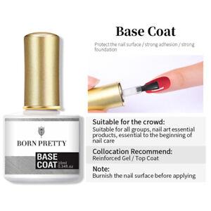 BORN PRETTY Blue UV Gel Nail Polish Sequins Glitter Top Base Coat Nail Varnish