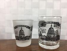 Two Washington DC Landmarks Souvenir Shot Glass 2 oz & 3 oz