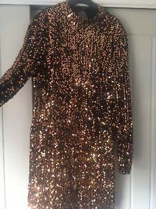 Size 12 Sequin Dress, Long Sleeve Dress, Party Dress