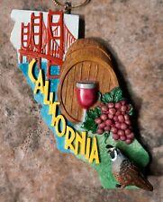 CALIFORNIA The Golden State VTG CERAMIC CHRISTMAS ORNAMENT Roman 2001 Winery