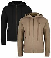 Ringspun New Men's Full Zip Hooded Sweatshirt Fleece Hoodie Slim Fit Pendle Top