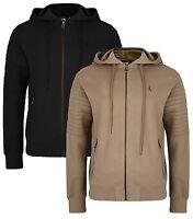 Ringspun New Men's Full Zip Hooded Sweatshirt Fleece Hoodie Slim Fit Pendle Top