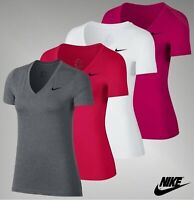 Ladies Nike Dri-Fit Victory Short Sleeve V Neck Top Sizes from 8 to 16