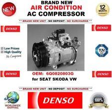 Denso Aire acondicionado CA Compresor OE 6q0820803g para Seat Skoda VW NUEVO