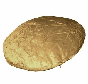 mn116n Gold Shimmer Crushed Velvet Style Round Shape Cushion Cover Custom Size