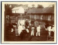 Côte d'Iivoire, Grand Bassam, Une réunion  Vintage citrate print  Tirag