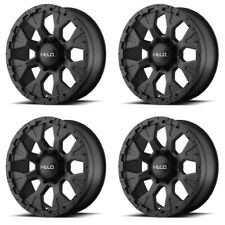 "Set 4 18"" Helo HE878 Black Rims 18x9 6x135 -12mm Lifted Ford F150 Lincoln 6 Lug"