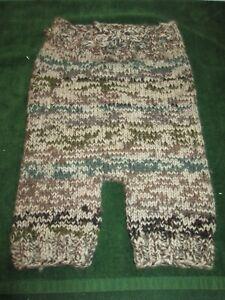 "Baby Diaper Cover Wool Soaker Heavy Knit Prewashed Lanolized Tan Brown 20"" w"