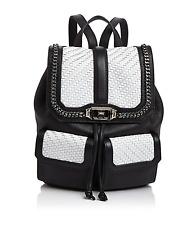 REBECCA MINCOFF Love Woven Flap Leather Backpack  Org.P. $490