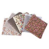 7X Kaffee Serie Stoffpaket Baumwolle Stoffreste Patchworkstoffe Cotton Fabric