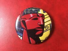 Pin Button Badge Vintage SUPER ROBOT. Rare Japanese Design.