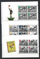 GRANDE-BRETAGNE 1996 ENSEMBLE TROIS FOOTBALL PRESTIGE VOLETS NON MONTÉS
