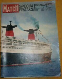 Paris Match spécial paquebot France avec coupe colorama n° 663 Brigitte Bardot