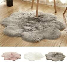 Flower Round Shaggy Rug Fluffy Thick Soft Living Room Bedroom Floor Area Rug Mat