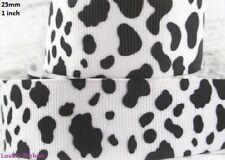 1 metre, COW ANIMAL PRINT, 25mm, Ribbon, 1 inch, Hide, Grosgrain, Hair, Sewing