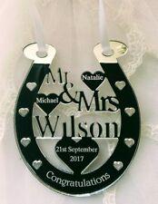BRIDE AND GROOM WEDDING DAY PRESENT HORSE  MR & MRS WILSON PERSONALISED KEEPSAKE