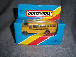 283B Vintage Matchbox MB 47 Autobus per la Scuola Autobus USA 1:76