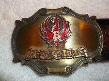 nef. 1980 Ruger Belt Buckle w/ Matching Hand Tooled Leather Ruger Belt