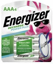 Energizer Rechargeable AAA Batteries, NiMH 800mAh Pre-Charged 4 count Power Plus