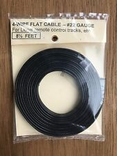 FC4 22 Gauge Flat 4 Conductor Wire 8 1/2 Ft card pack For Lionel Controllers