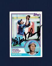 Rafael Ramirez signed Atlanta Braves 1983 Topps baseball card
