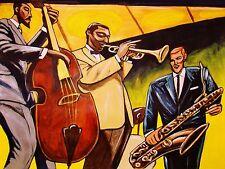MILES DAVIS PRINT poster trumpet newport jazz festival heath bass mulligan cd
