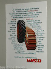 1969 FIAT advertisement, Tractor tire, crawler track, European advert