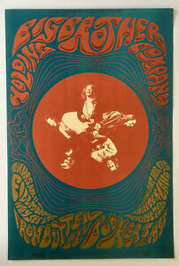 Vintage 1968 Concert Poster BG-115 Big Brother Iron Butterfly Booker T Fillmore