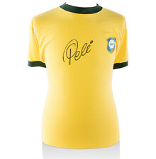 Pele Signed Brazil Shirt - Retro World Cup Shirt Autograph Jersey