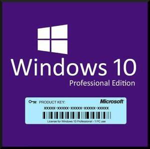 10Pro Activation Key Lifetime Use 64-bit PC