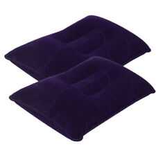 2Pcs Portable Ultralight Inflatable Air Pillow Cushion Office Travel Sleeping US