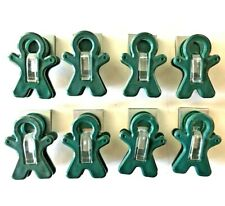 "Set of Eight Forest Green 2"" Magnetic Man Clips FREE SHIPPING!"