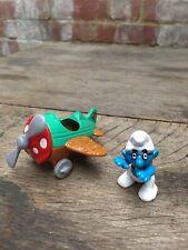 Irwin Peyo Pilot Smurf & Aeroplane/Airplane 1996 Schleich Figure Flying Smurf