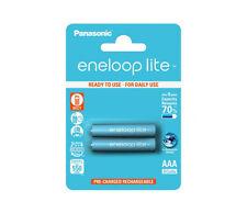 2 x Panasonic eneloop lite AAA 600mAh Rechargeable Ready Batteries DECT PHONE