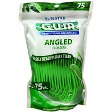 Gum  Eez-Thru Angled Dental Flossers Deep Clean Fresh Mint 75 Ea (Pack of 12)
