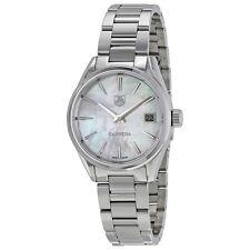 Tag Heuer Carrera White Mother Of Pearl Dial Ladies Quartz Watch WAR1311.BA0778